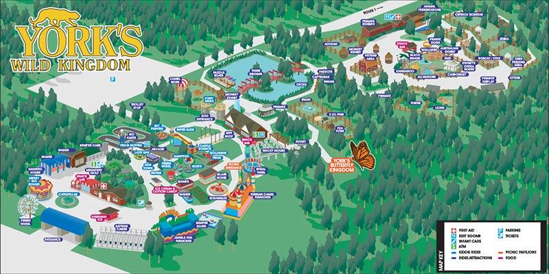 Yorks Wild Kingdom Park Map