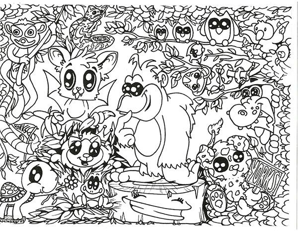 Coloring Activities - York\'s Wild Kingdom